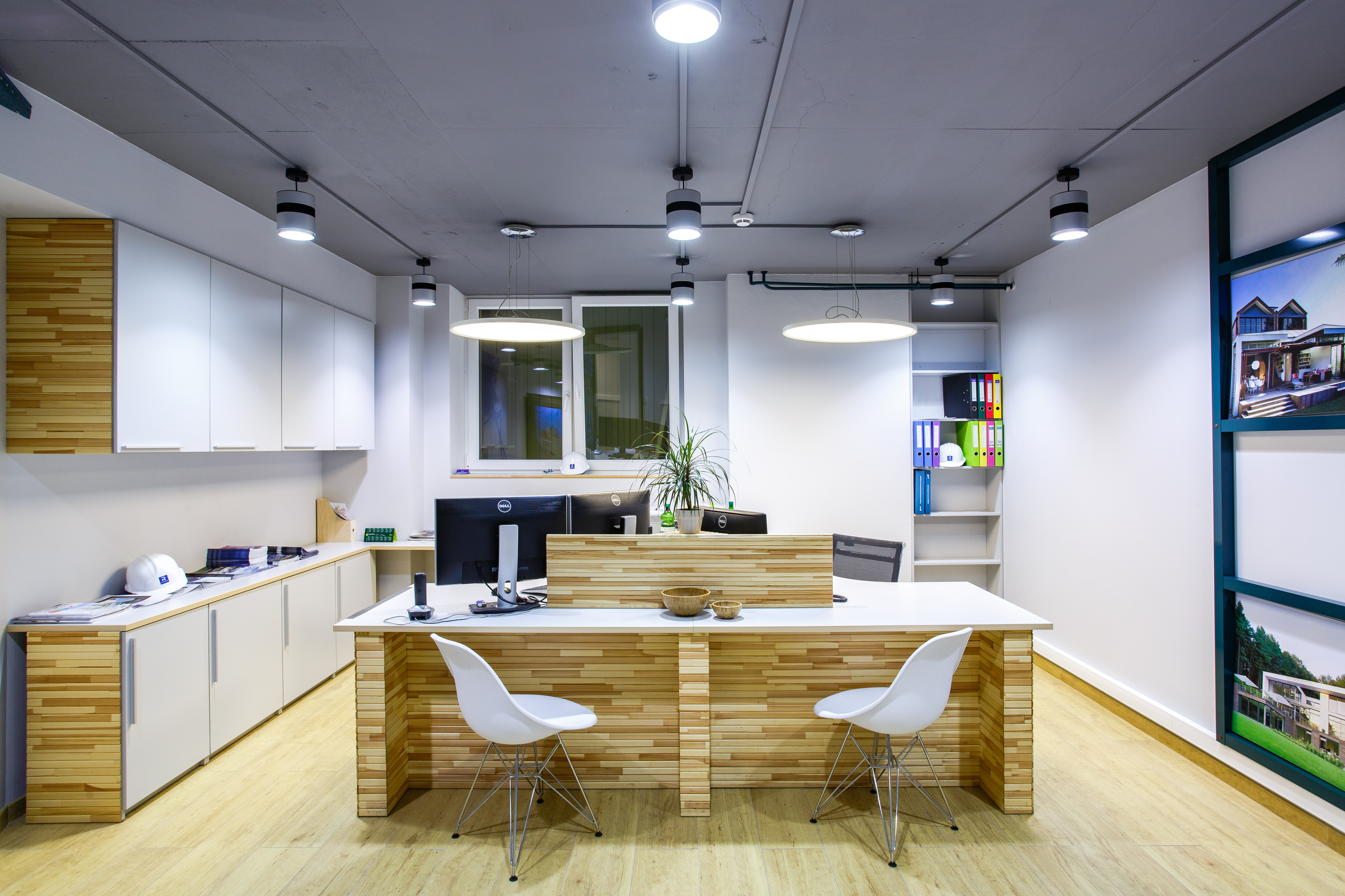 Eco office furniture Flexible Working Interior Bee Ecooffice For Construction Company Tint Soul